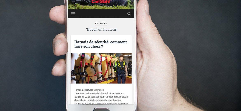 Notre Blog EPI affiché sur mobile