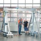 Portique en aluminium, levage et manutention de charge